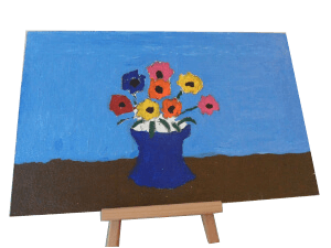 flower vase on board