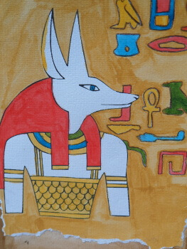 Egyptian dog head