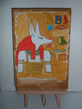 Egyptian dog head - small